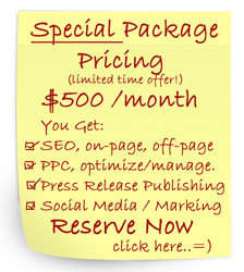 SEO PPC Special Pricing